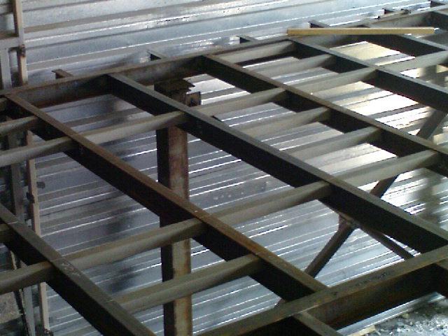 Обустройство перекрытия из металла межэтажного